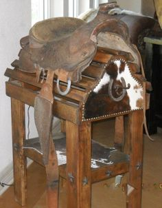 Saddle Rack by Cowboyreflectionsmer on Etsy, $199.00