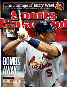 On the Cover: Albert Pujols, Baseball, St. Louis Cardinals Photographed by: John Biever / SI St Louis Baseball, St Louis Cardinals Baseball, Stl Cardinals, Dan Wheldon, Sports Magazine Covers, Si Cover, Cardinals Players, Sports Illustrated Covers, Sports
