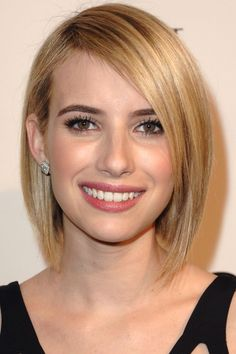 Emma Roberts Opts For A Sleek Side Bob At The Women In Television Party, 2014