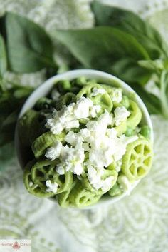 Creamy Basil Pasta Salad with Peas and Feta by Heather Christo, via Flickr