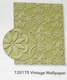 stampin up embossing folder vintage wallpaper