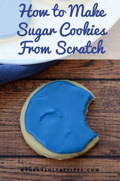 How to Make Sugar Cookies From Scratch - Are you ready to learn how to make sugar cookies from scratch? Learn my secret tricks for the BEST homemade sugar cookies! Sugar Cookies From Scratch, No Bake Sugar Cookies, Dessert From Scratch, Homemade Sugar Cookies, Cookie Recipes From Scratch, Delicious Cookie Recipes, Holiday Cookie Recipes, Easy Baking Recipes, Easy Cookie Recipes