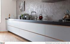 Noticed the diagonal wooden floor? My Kitchen Rules, Open Kitchen, Kitchen Magic, Bathroom Toilets, Home Interior Design, Home Kitchens, Kitchen Cabinets, House Design, Flooring