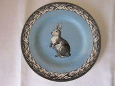 Carly Dodsley Royal Stafford Blue Easter Spring Vintage Bunny Salad Plates 3 | eBay