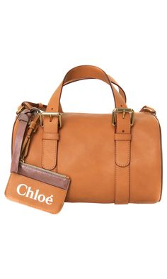Chloé #tote bag: double rounded top handles with gold.tone buckle fastenings