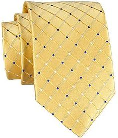 $30, Yellow Polka Dot Tie: jcpenney Stafford Dotted Grid Silk Tie. Sold by jcpenney. Click for more info: http://lookastic.com/men/shop_items/29983/redirect