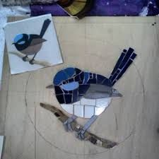 Image result for blue wren mosaic