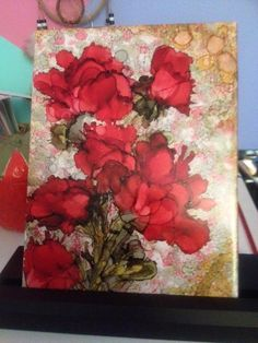 Alcohol Ink on Tile by Kathy Francis...Beautiful!!