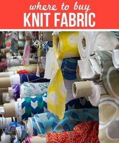 Where to buy knit fabric online