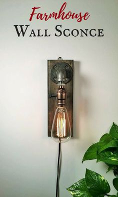 Lovely! This wall sconce just the kind of look I'm looking for for my bedroom. #farmhouse #ad #farmhousedecor #industrial