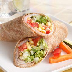 Turkey, Corn, And Sun-Dried Tomato Wraps