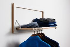 Fläpps Shelving System is a space saving wall storage furniture - HomeCrux Wall Storage Systems, Storage Solutions, Space Saving Furniture, Living Room Furniture, Modular Walls, Modular Shelving, Hallway Storage, Clothes Rail, Small Apartments