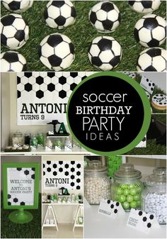 Soccer birthday party ideas from Spaceships and Laser Beams Soccer Birthday Parties, Soccer Party, Birthday Party Themes, Sports Party, 9th Birthday, Soccer Banquet, Indoor Birthday, Sports Birthday, Birthday Celebration