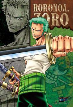 300 One Piece Straw Hat Pirates Roronoa Zoro (japan import) ensky… Otaku Anime, Manga Anime, Anime One Piece, Zoro One Piece, Roronoa Zoro, One Peace, The Pirate King, Nico Robin, Kawaii