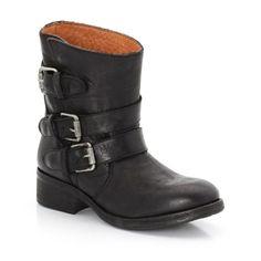 KOAH Owen - Boots en cuir avec brides, noires, T40