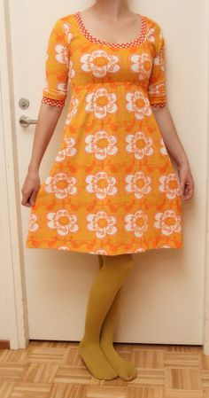 Pikkukiisken kotona Granny Chic, Diy Clothes, Diy And Crafts, Upcycle, Short Sleeve Dresses, Summer Dresses, Sewing, Stylish, Womens Fashion