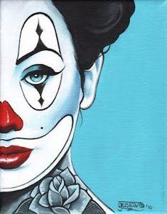 Payasa By Gustavo Rimada Mexican Woman w Clown Face Make-up Art Print Clown Cirque, Art Du Cirque, Le Clown, Clown Faces, Illustrations, Graphic Illustration, Desenhos Halloween, Circus Art, Send In The Clowns