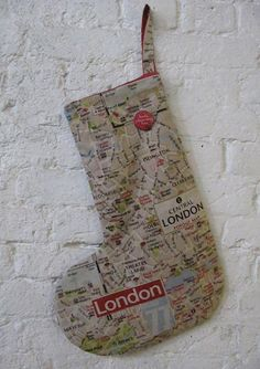 London Christmas stocking - so Santa knows where he's going   tillyflopdesigns via Etsy