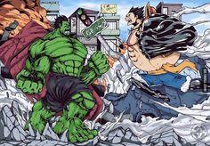 Luffy en Gear 4 vs Hulk ?