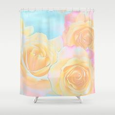 A mixed media painterly artwork with decorative roses. The colors are pink…