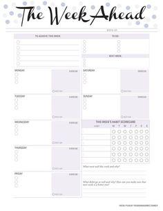 The week ahead week planner blank PDF printable To Do Planner, Daily Planner Pages, Daily Planner Printable, Free Planner, Planner Template, Weekly Planner, Weekly Agenda, Agenda Printable, College Planner