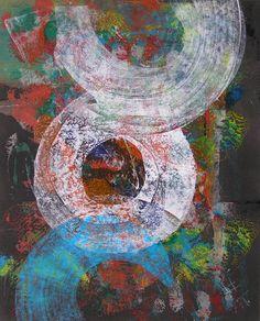 I am in /  acrylic,oil,pedrage,cardboard - Petr Chmel