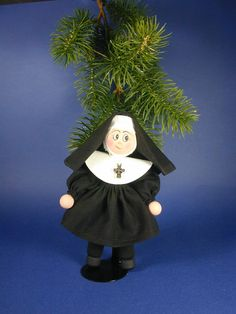 Hey, I found this really awesome Etsy listing at https://www.etsy.com/listing/200681396/nun-clothespin-ornament-sister-habit