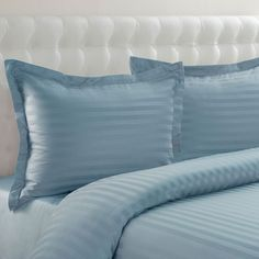 Grand Collection 500-Thread Count Cotton Sateen 3-pc. Woven Stripe Reversible Duvet Cover Set,