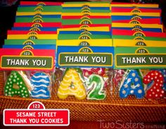 Sesame Street Thank You Cookies
