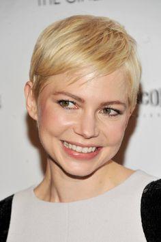 Michelle Williams Blonde Short Pixie Hairstyle