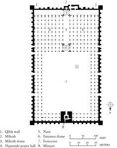 Plan of the Great Mosque, Kairouan, Tunisia, ca.