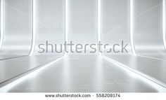 Futuristic white abstract background glow light and reflection with digital data graphic. Future line curve concept background. 3D Render