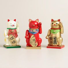 One of my favorite discoveries at WorldMarket.com: Lucky Cat Chubby Nutcrackers, Set of 3