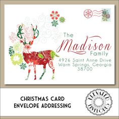 CHRISTMAS ENVELOPE ADDRESSING Printable by ElevatedEnvelopes