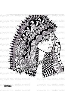 PinkiTangle  Zentangle by MIRAKRIS on Etsy, $12.00