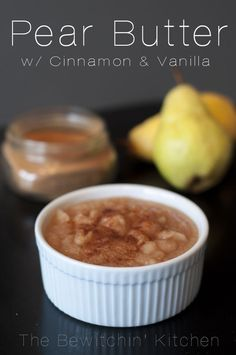 Pear Butter With Cinnamon & Vanilla