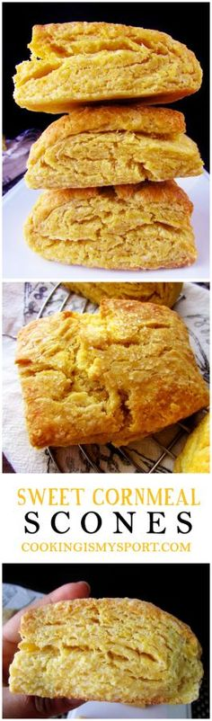 Sweet Cornmeal Scones