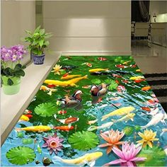 Sproud 3D Custom Flooring To Wear Non-Slip Waterproof Thickening Self-Adhesive Floor Stickers Papel De Parede Para Sala 400cmX280cm ** See this great product. (This is an affiliate link and I receive a commission for the sales)