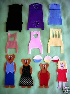 Goldilocks & the 3 bears felt / flannel board story set