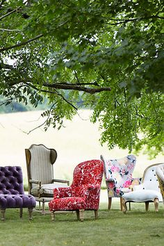 Lotus Blossom Wingback Chair - anthropologie.com #anthropologie #AnthroFave