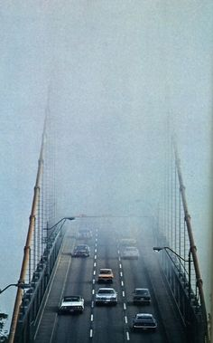 Foggy bridge.