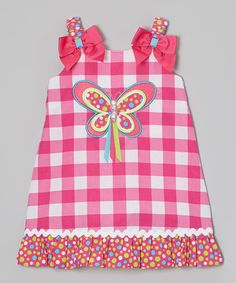Love this Pink Butterfly Youngland Swing Dress - Infant, Toddler & Girls by Youngland on #zulily! #zulilyfinds