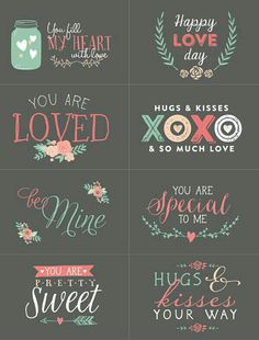 Free Valentines Day Labels to Print or DIY font ideas. Julia Lima ·  Scrapbook 676628b52c