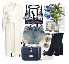 """""""Ready for summer"""" by alinnas ❤ liked on Polyvore featuring Whiteley, H&M, STELLA McCARTNEY, Topshop, Marni, Valentino, Cochine Saigon and Christian Dior"""