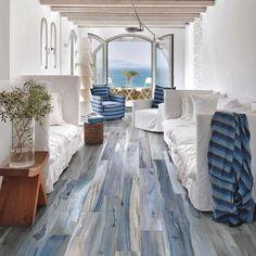 View in gallery petrified-wood-look-tile-kauri-tasman-blue-plank. petrified- wood-look-tile-kauri-tasman-blue-plank. Home Interior, Interior And Exterior, Airstream Interior, Modern Interior, Interior Paint, Interior Ideas, Interior Office, Interior Designing, Wood Look Tile