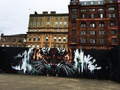 EARTH without ART is just EH. Glasgow street ART. #UK #UnitedKingdom #Scotland #Glasgow #streetart #art #tiger #buildings #architecture #travel #explore #G-Town Art Uk, Glasgow, United Kingdom, Scotland, Street Art, Buildings, Louvre, Earth, Explore
