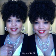 Puff & bangs using Afro Kinky Curly/Kinky Curly hair by KinkyCurlyYaki.com!