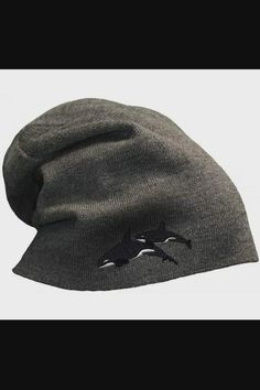 Shop Custom Slouchy Beanie Killer Whales Embroidery Skull Cap Hats for Men & Women - Dark Grey now save up 50% off, free shipping worldwide and free gift, Support wholesale quotation! Slouch Beanie, Beanie Hats, Winter Hats For Women, Hats For Men, Bad Hair Day Beanie, Summer Beanie, Skull Cap Beanie, Killer Whales, Elastic Headbands