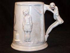Antique Carlton Ware Ceramic Tankard Beer Mug #1285 HANGING PILGRIM Last Drop #CarltonWare