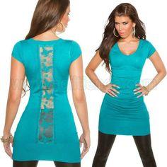 #Original #vestido #mangacorta de #punto #elastico #diseño #camiseta #larga #escotev de #pico con #llamativo #estampado #transparente en la #espalda que #marca en nuestra #figura una #tendencia #sexy y muy #chic para #brillar en @eventos o #complementando con nuestro @armario en el #dia a dia. Encuentralo en #Vestidos de #Invierno de http://www.agiltienda.com/es/home/2296-vestido-manga-corta-espalda-transparente.html #online #shop @agiltienda.es